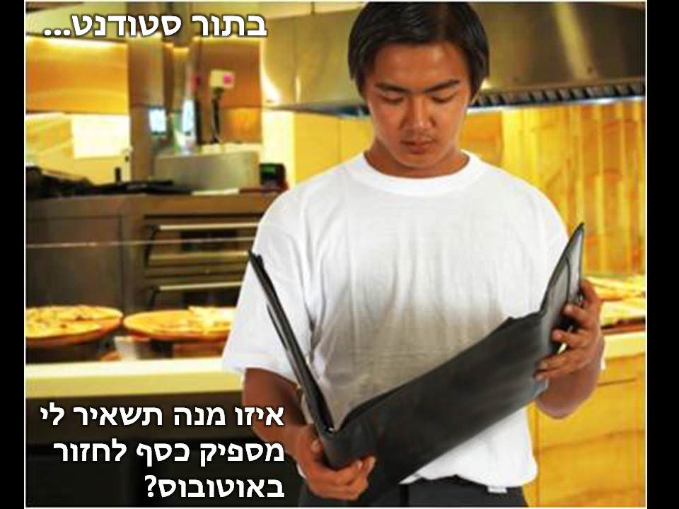 הזמנת אוכל במסעדה