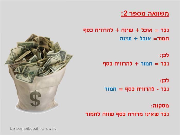 תאוריה מצחיקה על כסף
