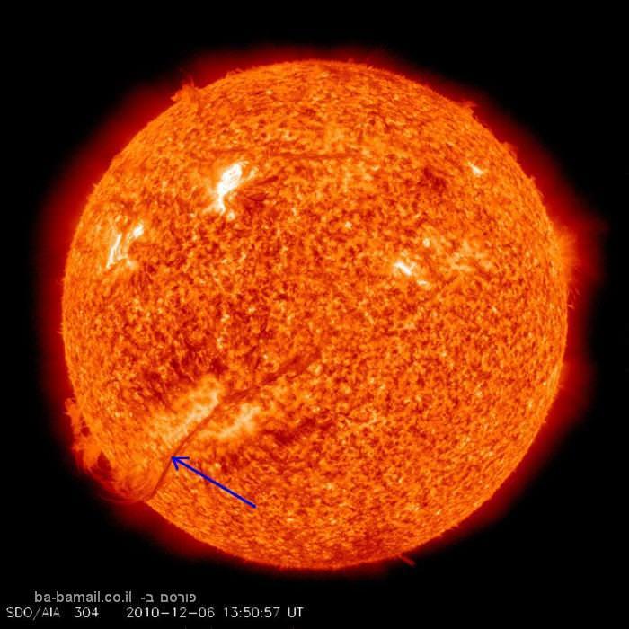 לא רק השריפה בכרמל: השינויים שעוברת השמש