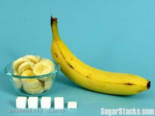 בננה, כמות סוכר