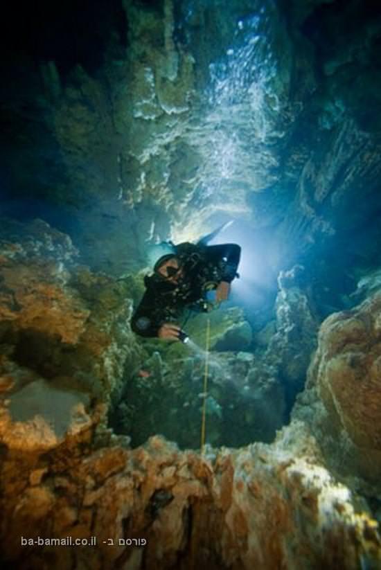 באהמה, מקומות בעולם, צלילה, חור כחול, מערות