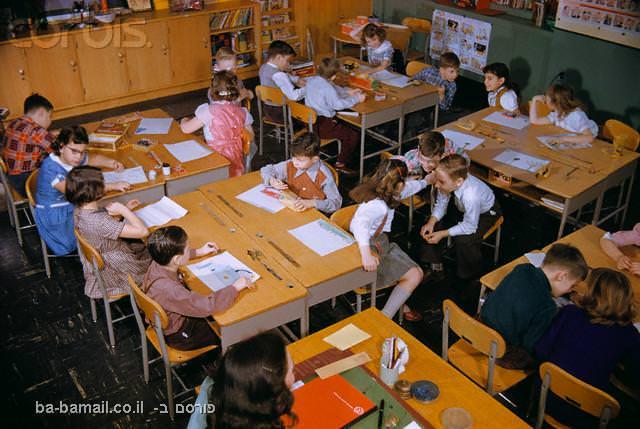 ילדים, ציור, ילדים חכמים, מורים, מורים וילדים, כיתה