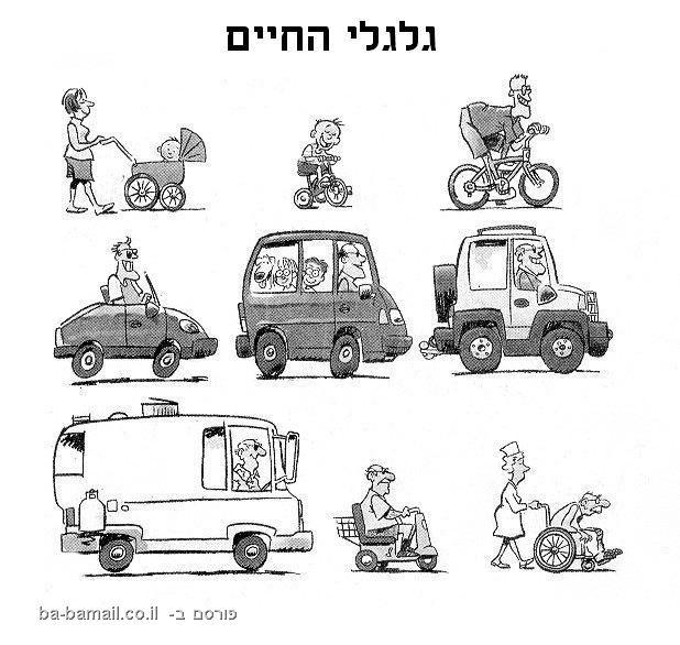 רכבים, על גלגלים, גלגלי החיים, אופניים, כסא גלגלים, עגלה, מכונית,