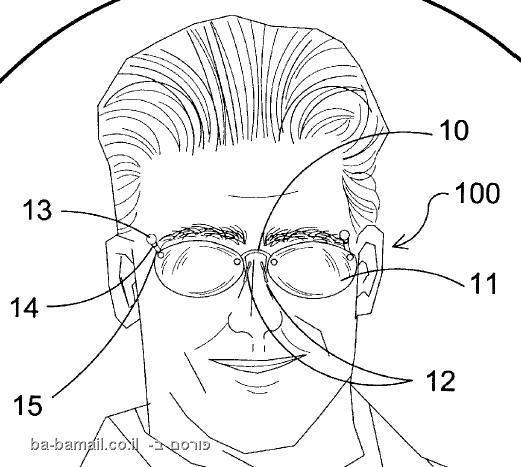 משקפיים, פירסינג, משקפי פירסינג, פטנט