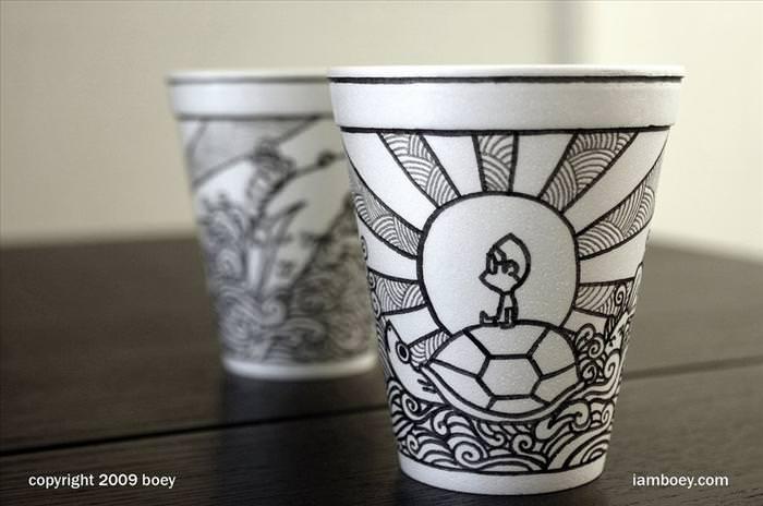אמנות, כוסות קלקר, ציור