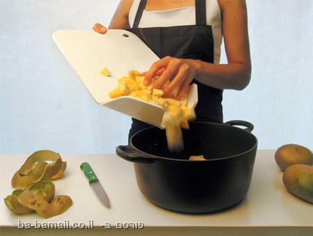 מטבח, גאדג'טים, קרש חיתוך, קרש חיתוך תלת ממדי, צ'יפס