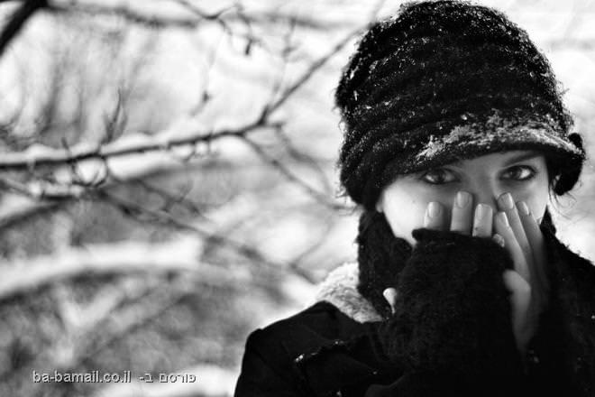 קור, חורף, שלג, כובע צמר