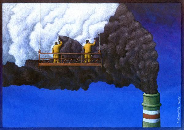 סרקאזם חד דרך ציורים - הצייר פול קוצ'ינסקי