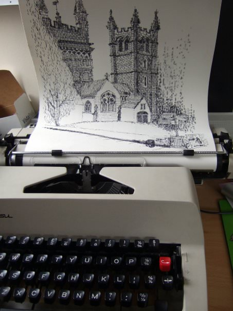 אמנות ממכונות כתיבה