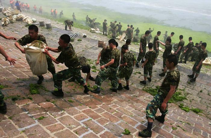אצות ירוקות משתלטות על סין - לא יאומן! (בעריכה)