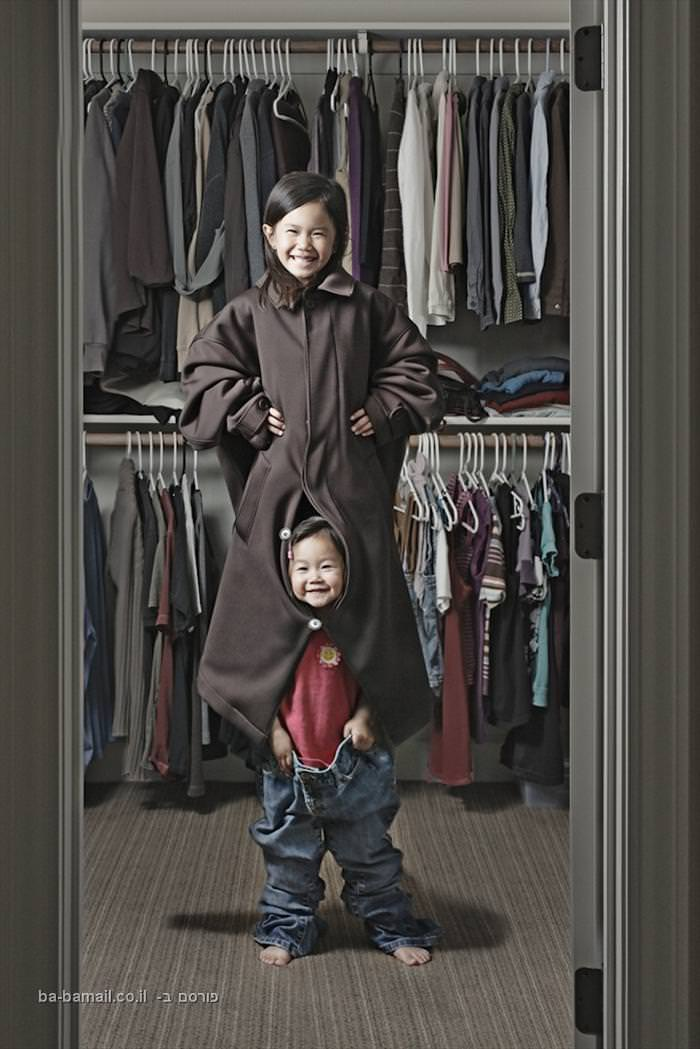 שתיים סיניות עם אבא גדול - תמונות יצירתיות להפליא!