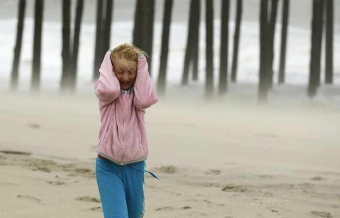 האנשים שלא פוחדים מהוריקן סנדי!