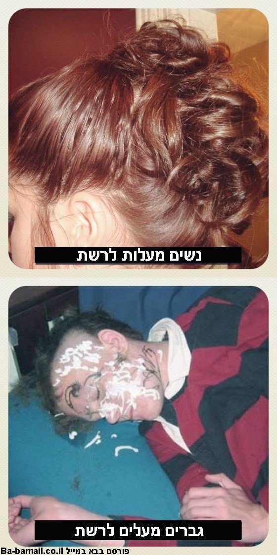 ההבדל בין גברים לנשים לפי תמונות ברשת - מצחיק!