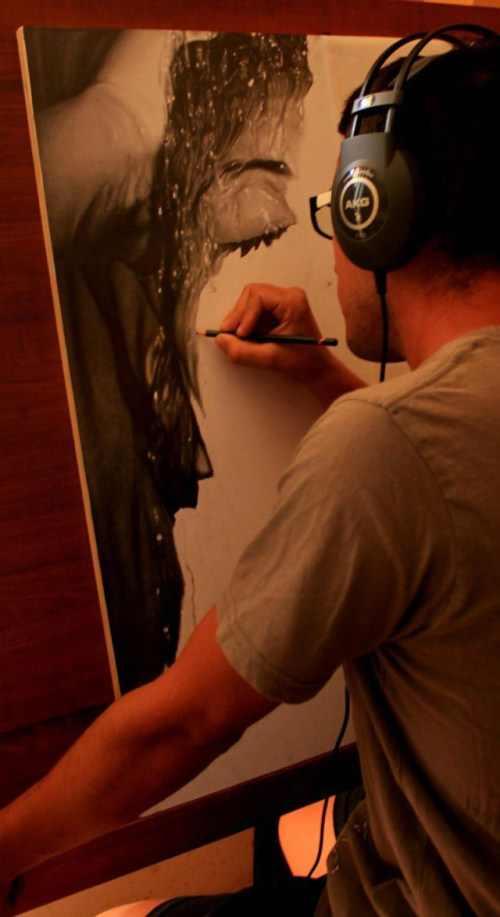 ציור עיפרון מדהים שנראה כמו תמונה