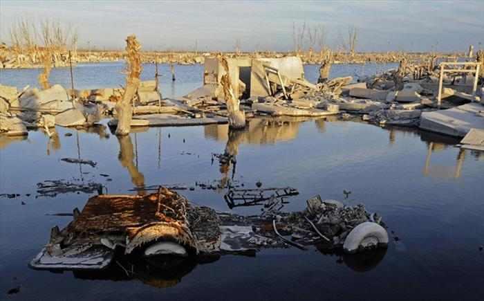 העיר ששקעה באגם המלח