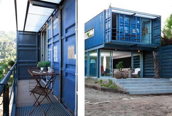 עיצוב בית בתוך מכולה