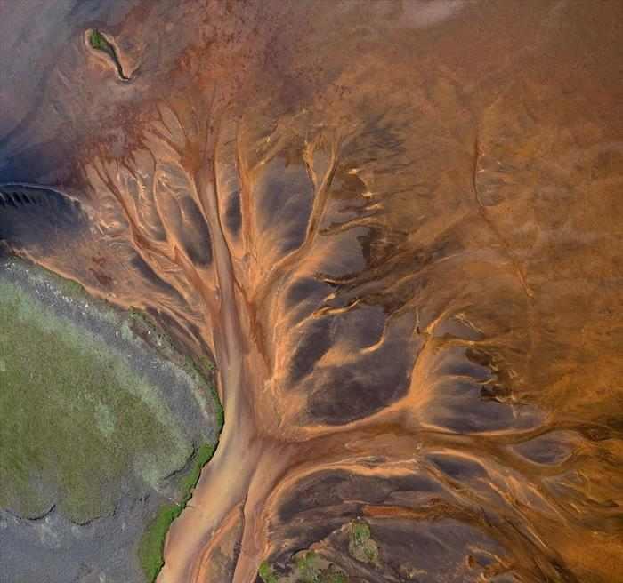 צילום אווירי של נהרות