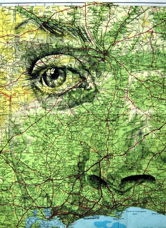 ציורים על מפות