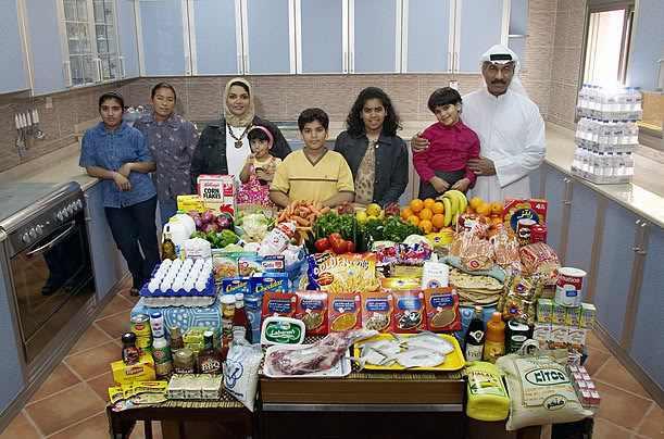 מה אוכלות משפחות מרחבי העולם?