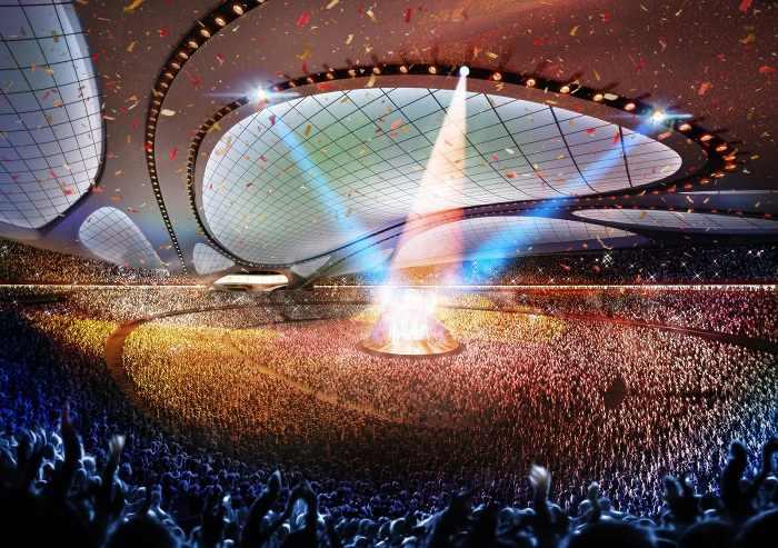 כך יראה האיצטדיון האולימפי ביפן