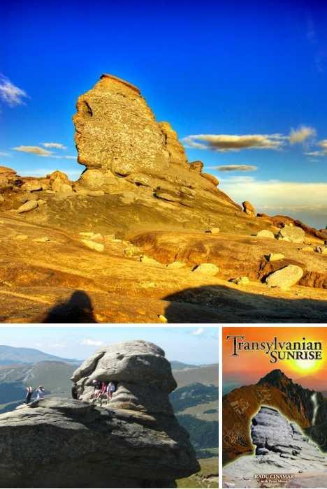 פרצופים אנושיים טבעיים על סלעים