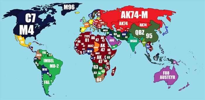 כלי נשק ברחבי העולם