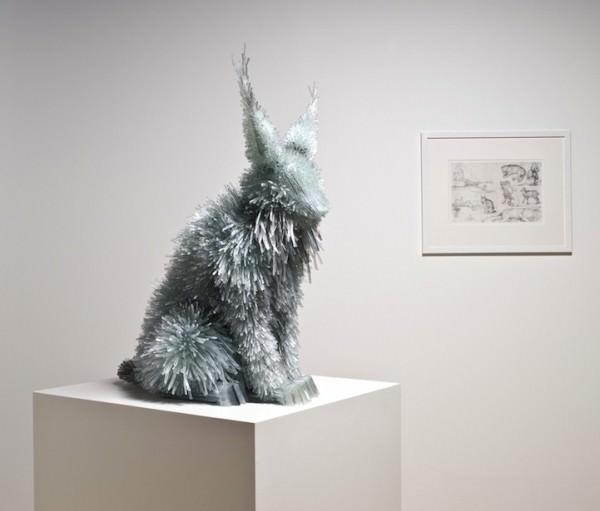 פסלי חיות מזכוכית