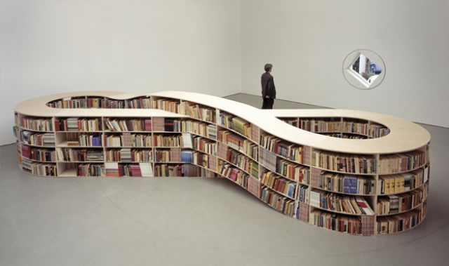 עיצובים מיוחדים של מדפי ספרים