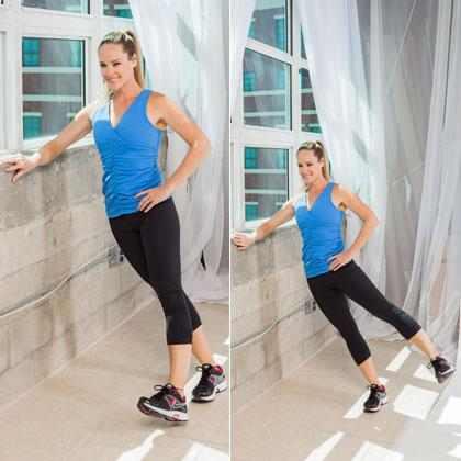 אימון גופני כנגד הקיר