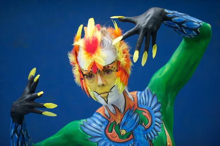 פסטיבל ציורי גוף באוסטריה