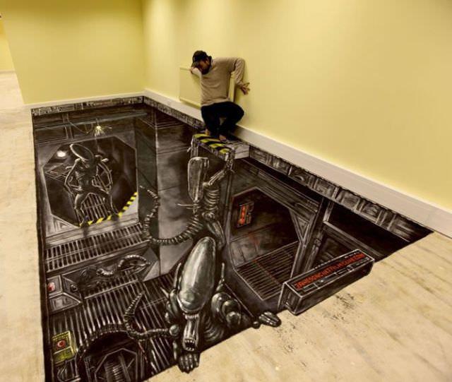 ציורי רצפה בתלת מימד