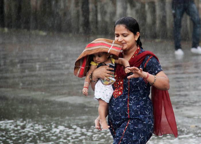 תמונות של עונת המונסון מהודו