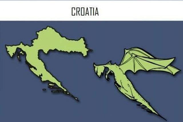 איורים של מפות מדינות אירופה