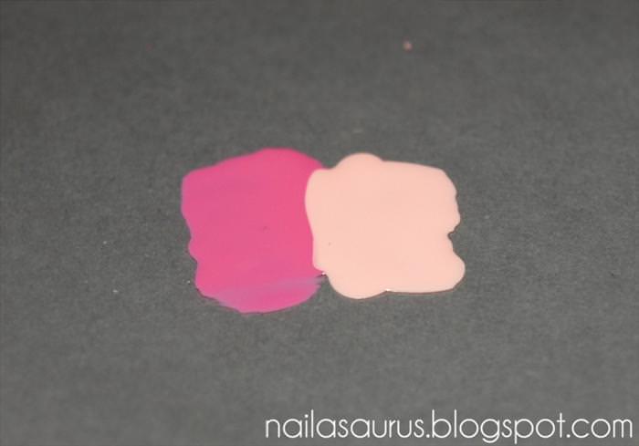 לק בשני צבעים