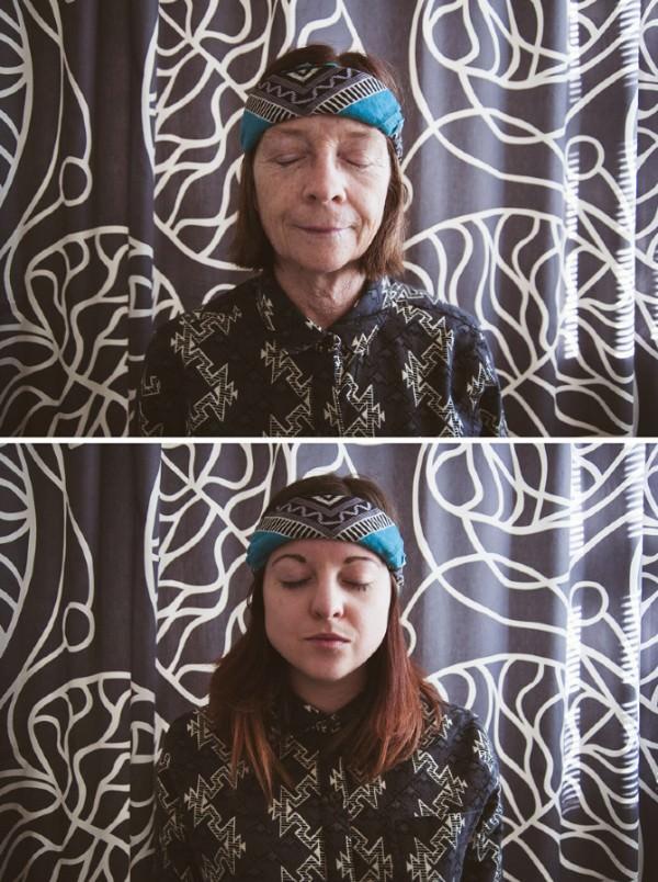 אמא ובת בפרויקט צילום
