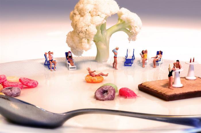 עולם מיניאטורי של אוכל
