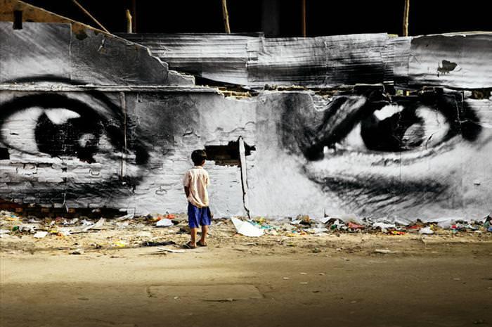 אמנות רחוב של פורטרטים בכל העולם