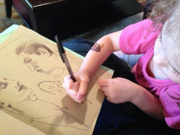 ציורים מדהימים של מאיירת ובתה