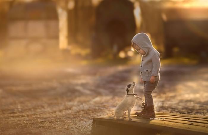 תמונות של ילדים ובעלי חיים