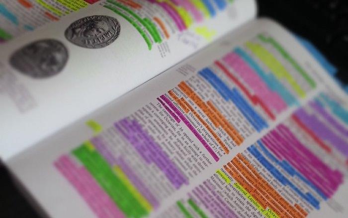 איך ללמוד נכון: ספר לימוד עם סימני מרקרים