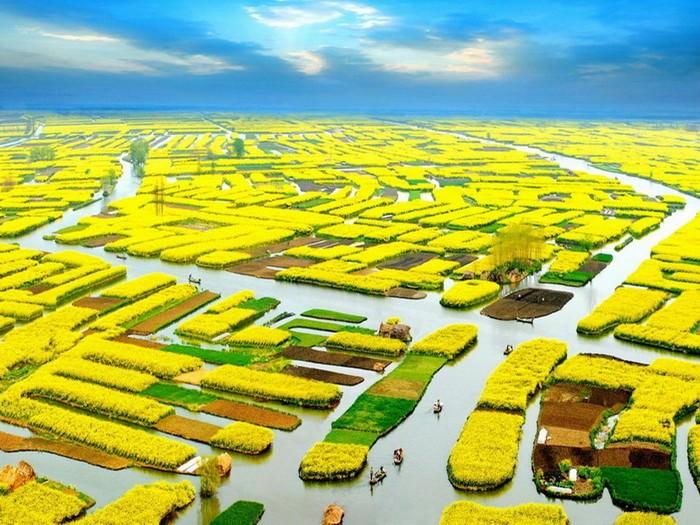 נופים צבעוניים בסין