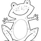 דפי צביעה לילדים: צפרדע