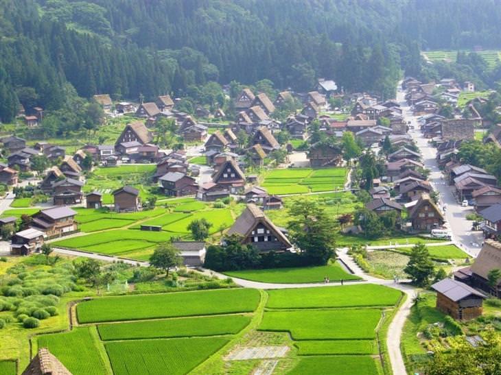 כפר שירקאווה-גו מלמעלה