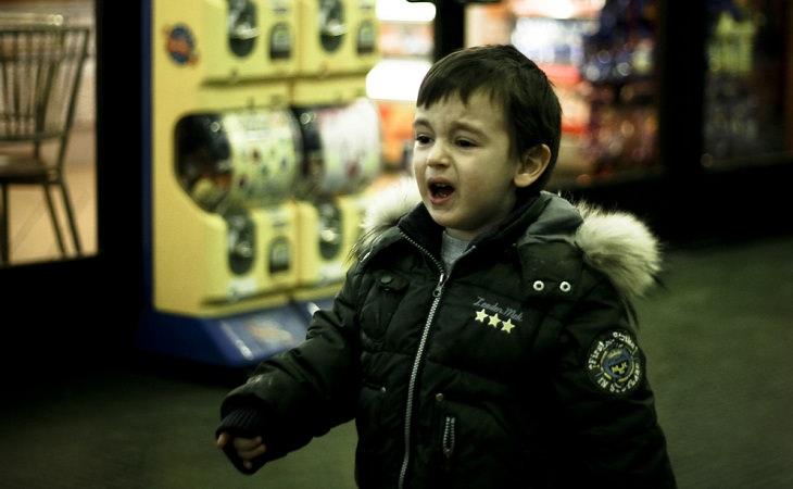 ילד בוכה ועצבני