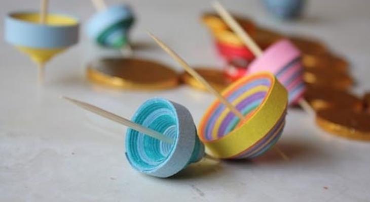 סביבונים מנייר צבעוניים