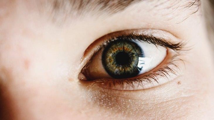 יתרונות ומתכוני קישואים: עין של אישה מקרוב