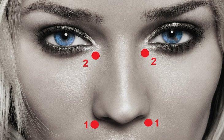4 נקודות לחיצה לטיפול טבעי באף סתום