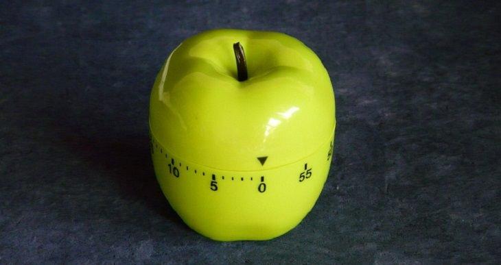 טיימר בצורת תפוח ירוק