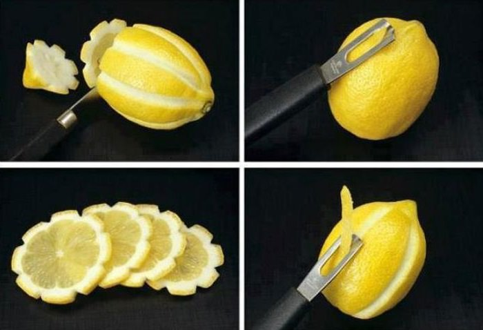 שדרוגים וטיפים לבישול והגשה: קילוף לימון בצורה מעוצבת