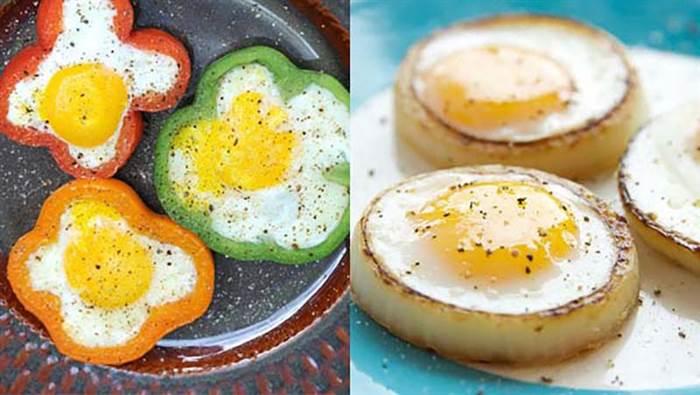 שדרוגים וטיפים לבישול והגשה: ביצי עין בטבעות בצל וגמבה